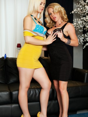 Blondes Ainsley Addison & Tara Lynn Foxx know how to please each other as they show off their lesbian skills