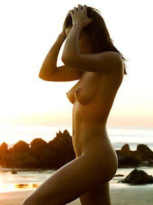 visits her favorite beach